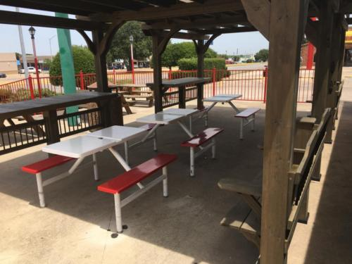 Our new covered patio. Who doesn't want shade in Texas?